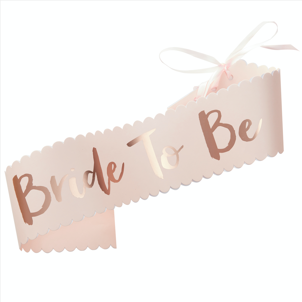 Bride to Be Pink & Rose Gold Sash