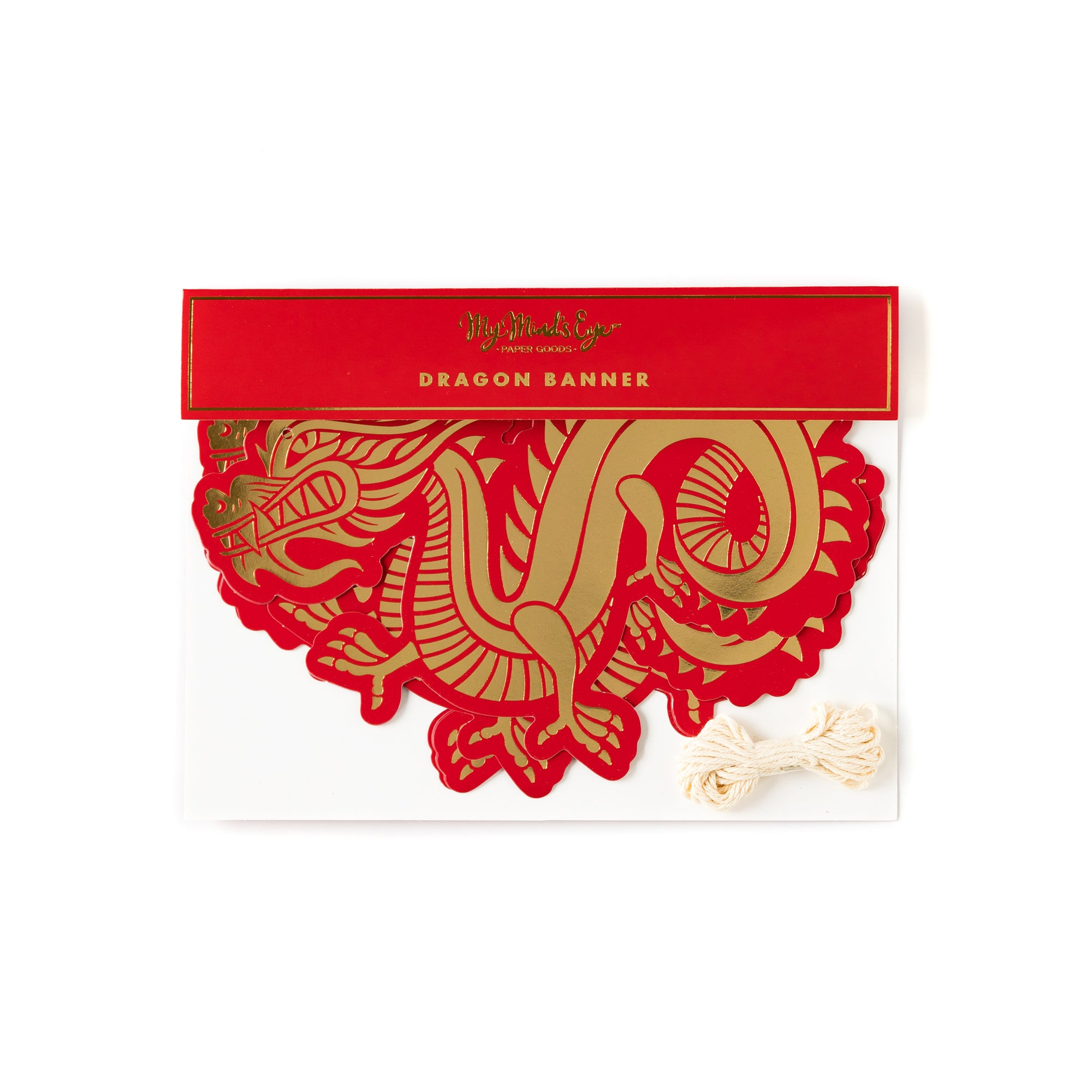 Red & Gold Dragon Banner