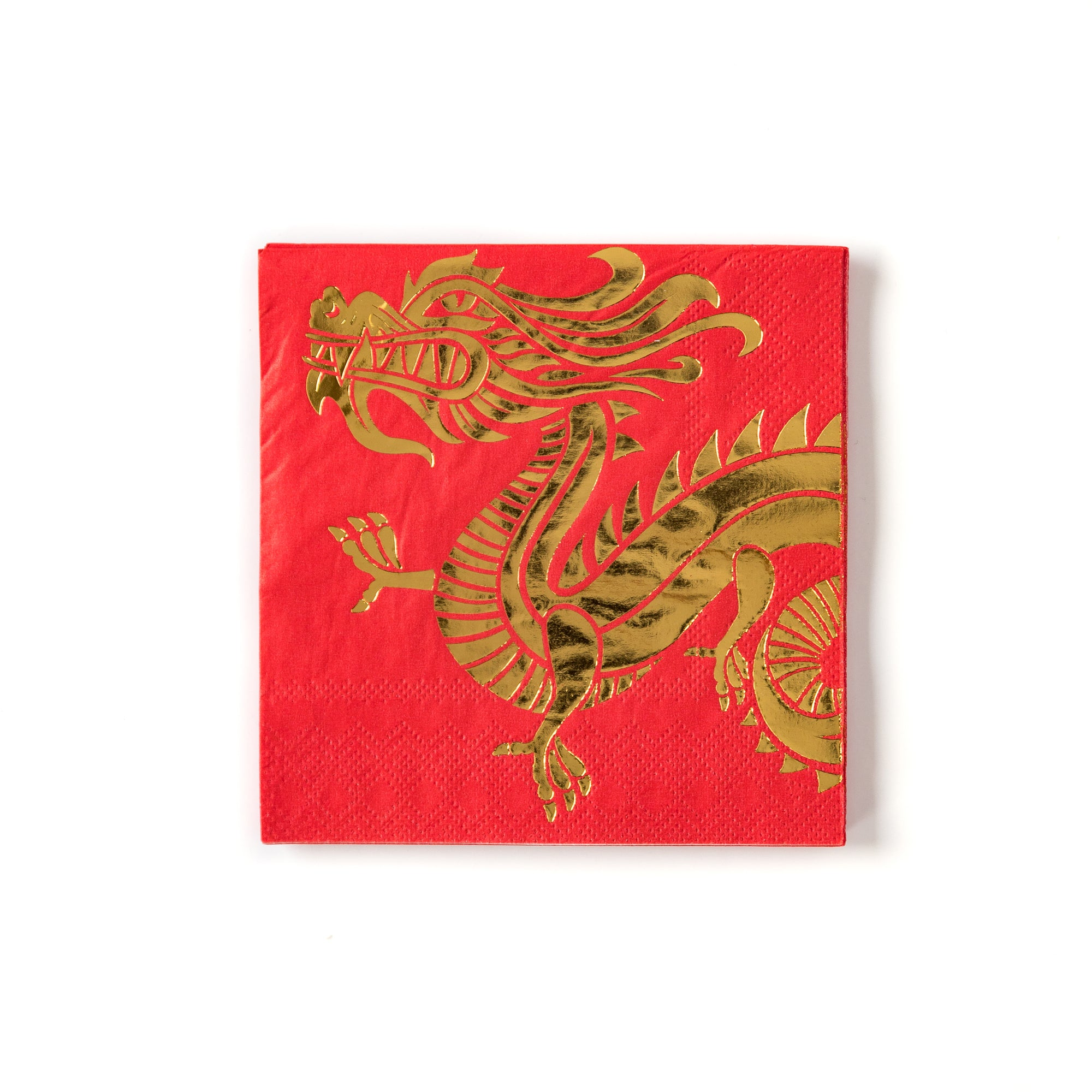 Dragon Red Gold Cocktail Napkins