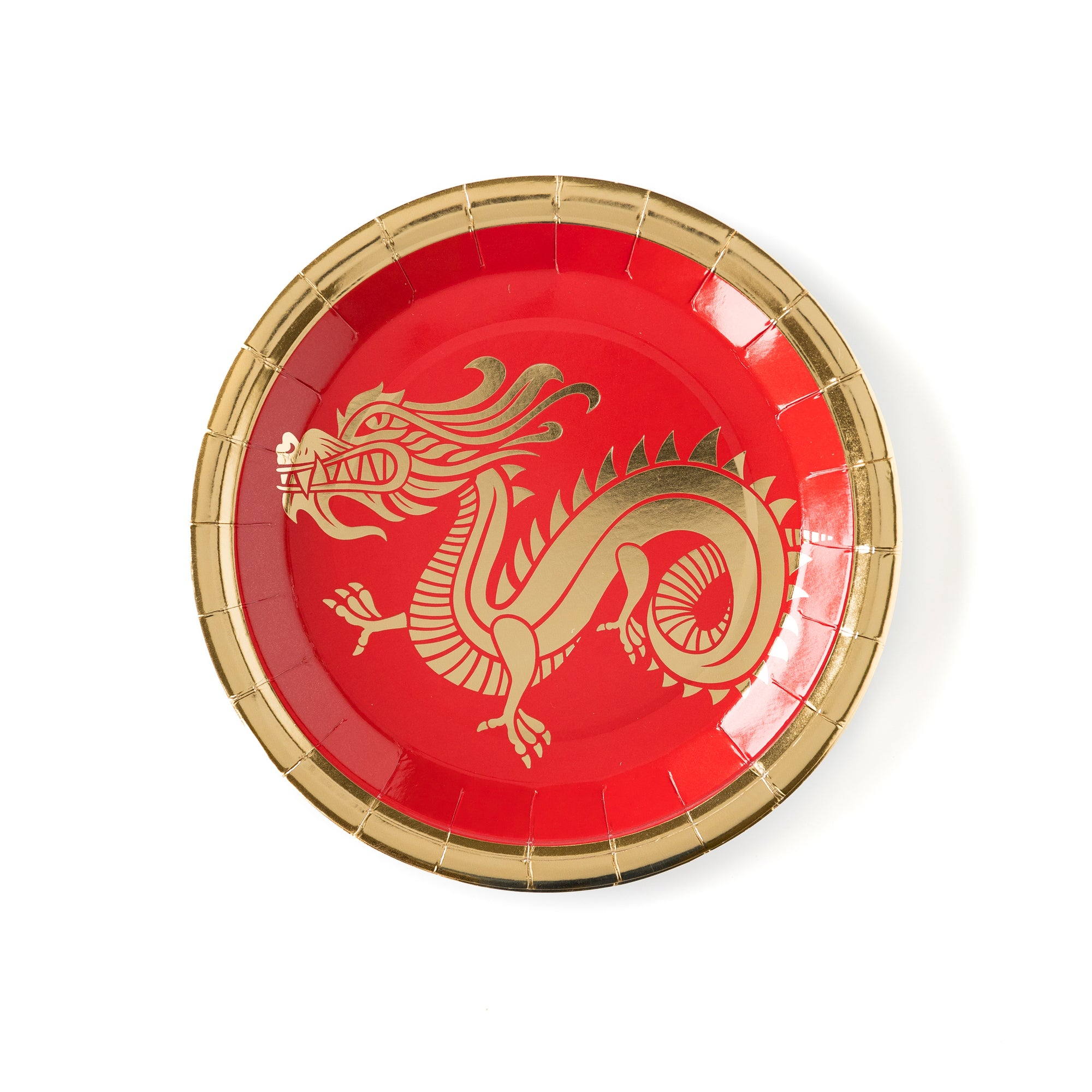 Red & Gold Dragon Plates