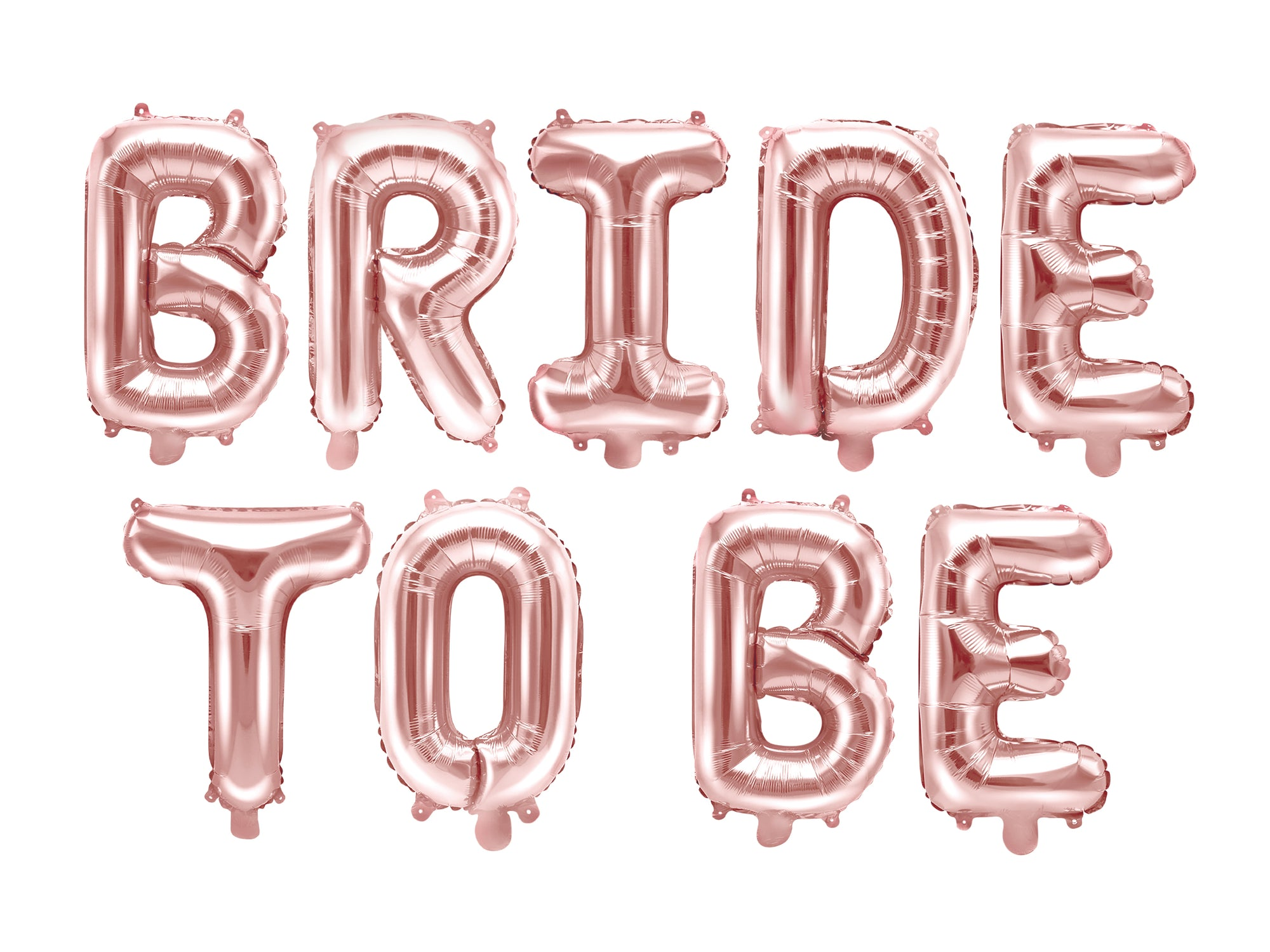'Bride To Be' Metallic Balloon Letters
