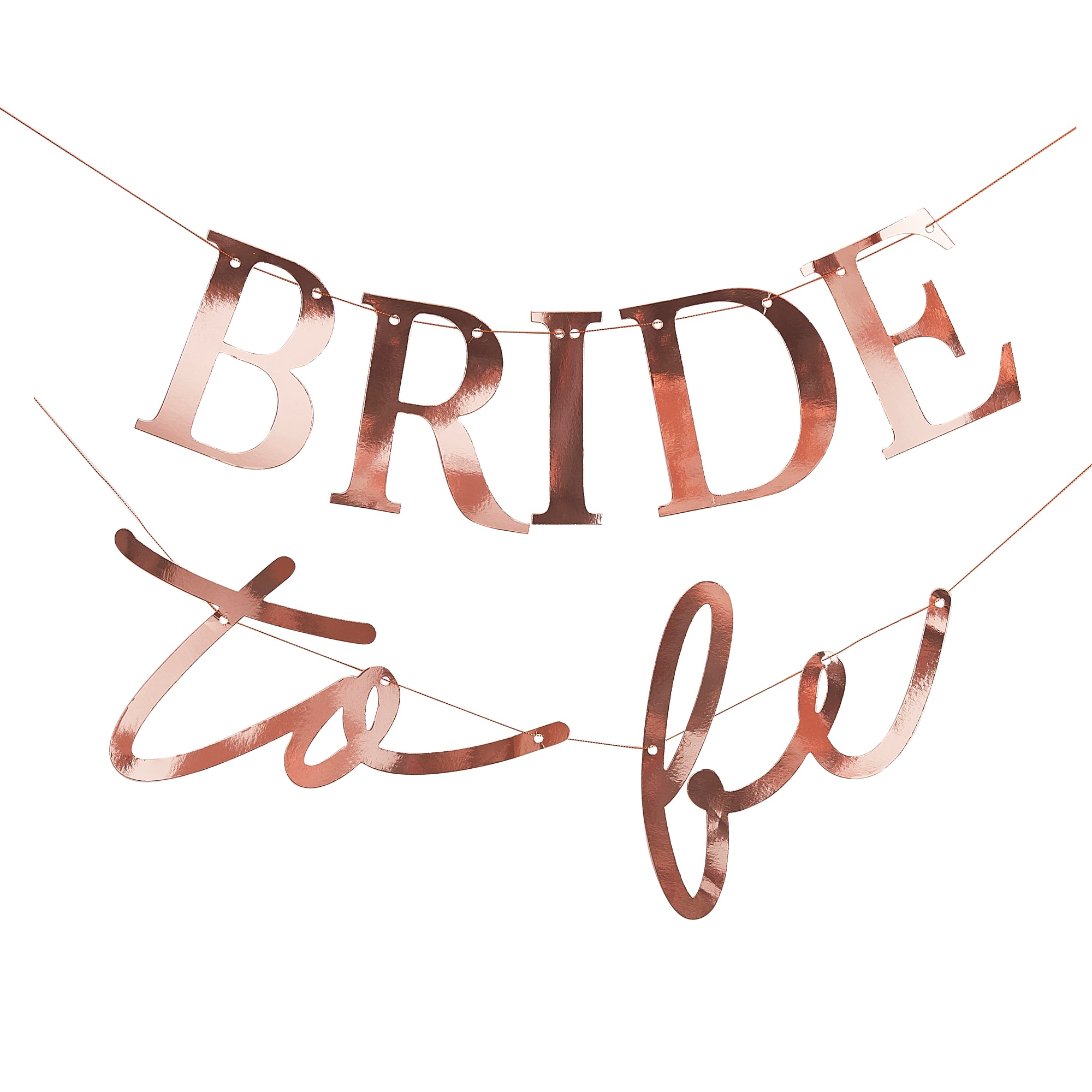 Rose Gold Bride To Be Bunting