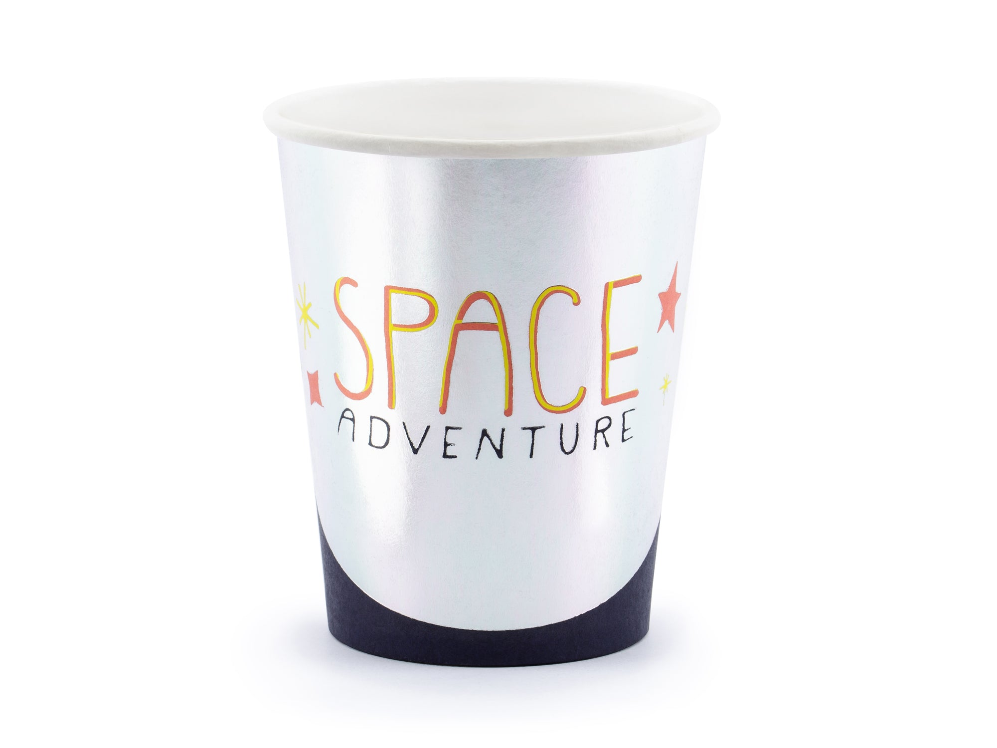 Silver Space Paper Party Cups