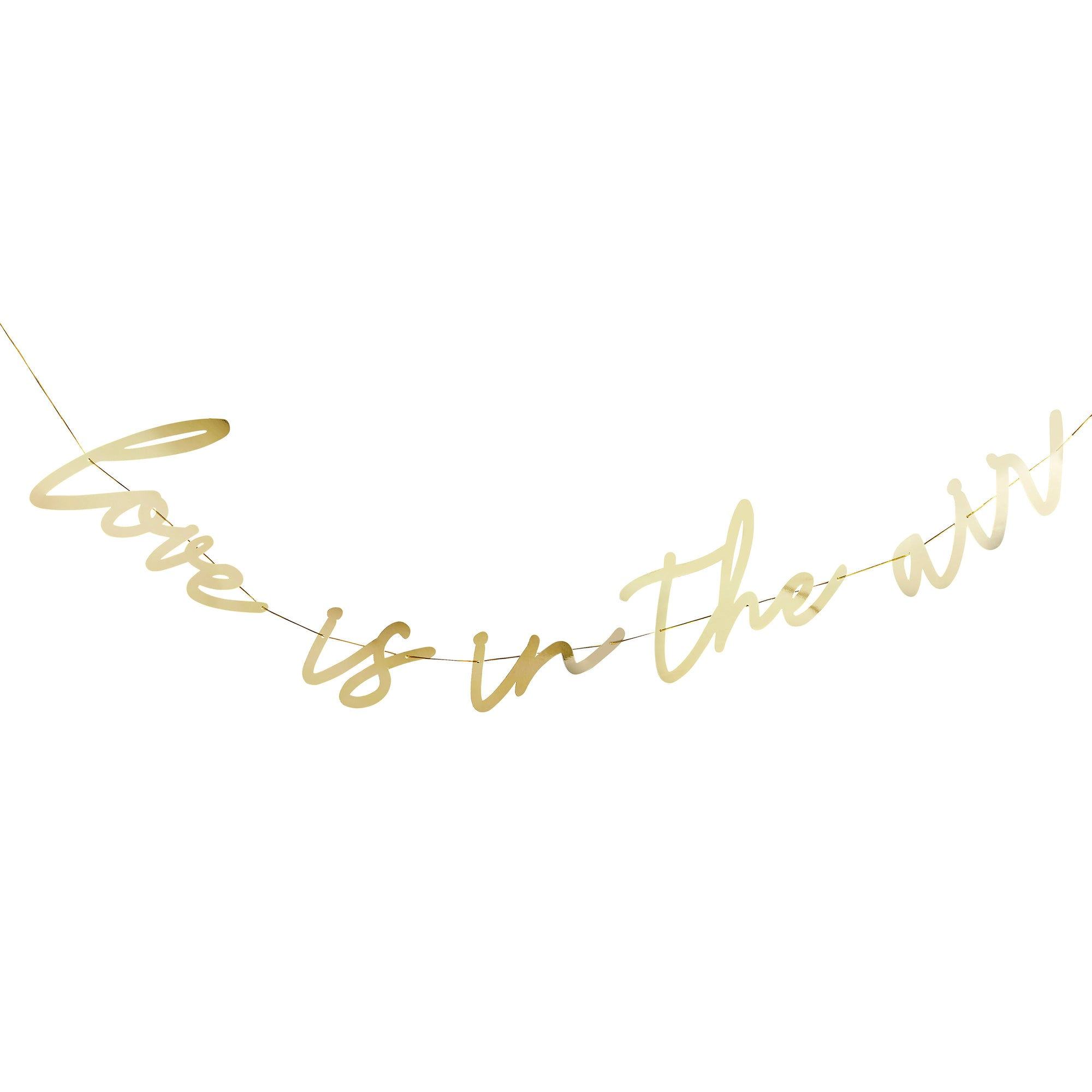 'Love is in the Air' Gold Banner