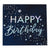 Iridescent Foiled Happy Birthday Paper Napkins Stargazer