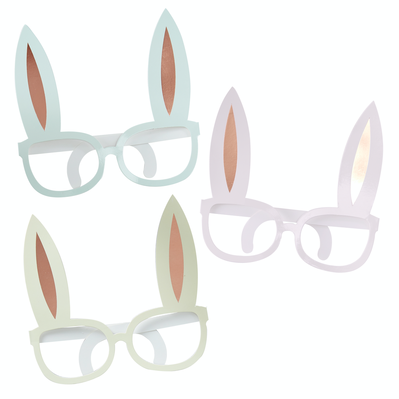 Hoppy Bunny Novelty Rose Gold Glasses