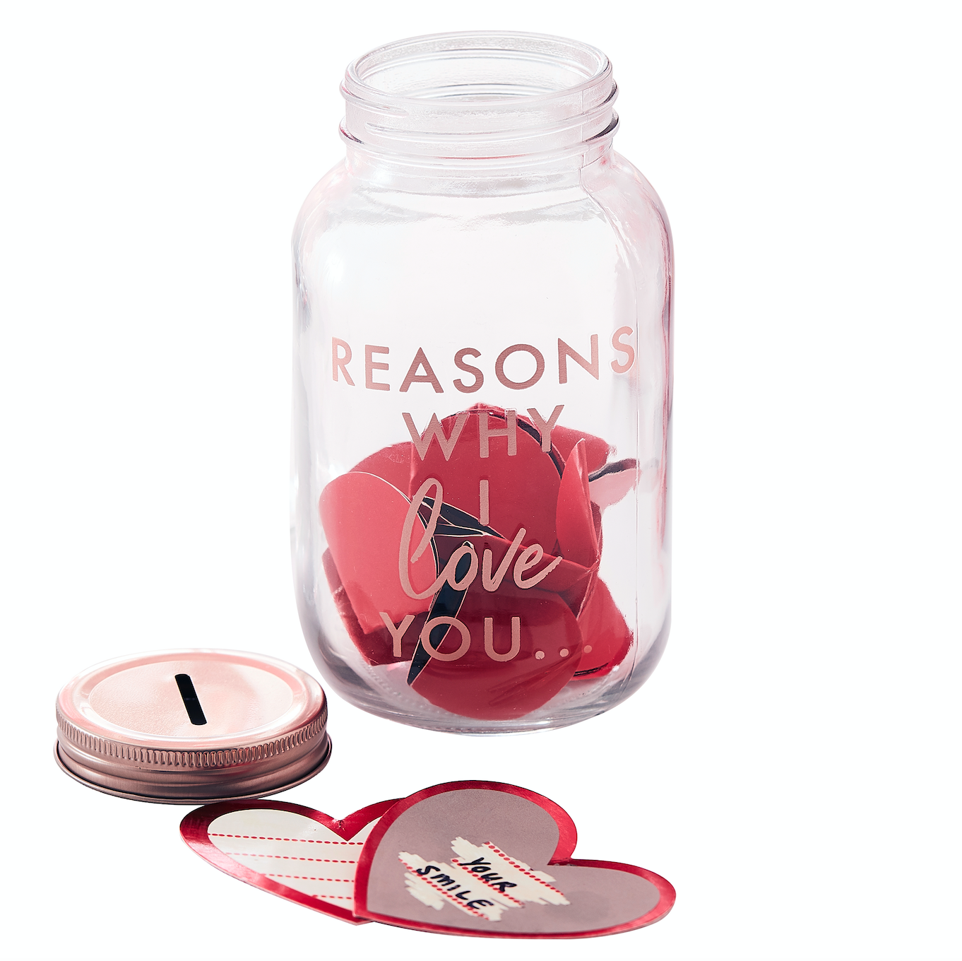 'Reasons Why I Love You' Valentines Jar