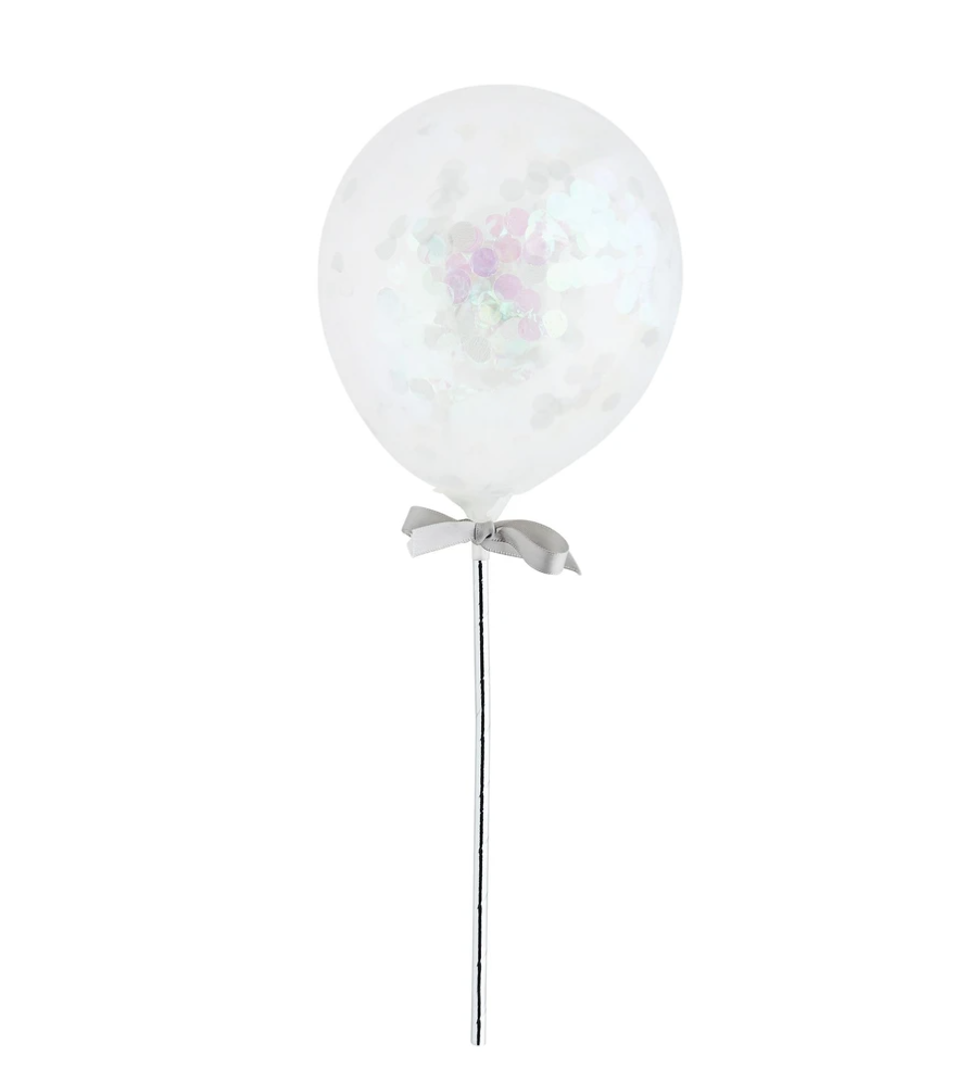 Iridescent Mini Confetti Balloon Wands
