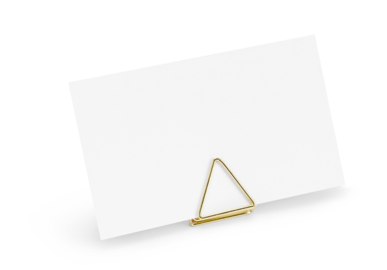 Gold Triangles Place Card Holders 2.3cm
