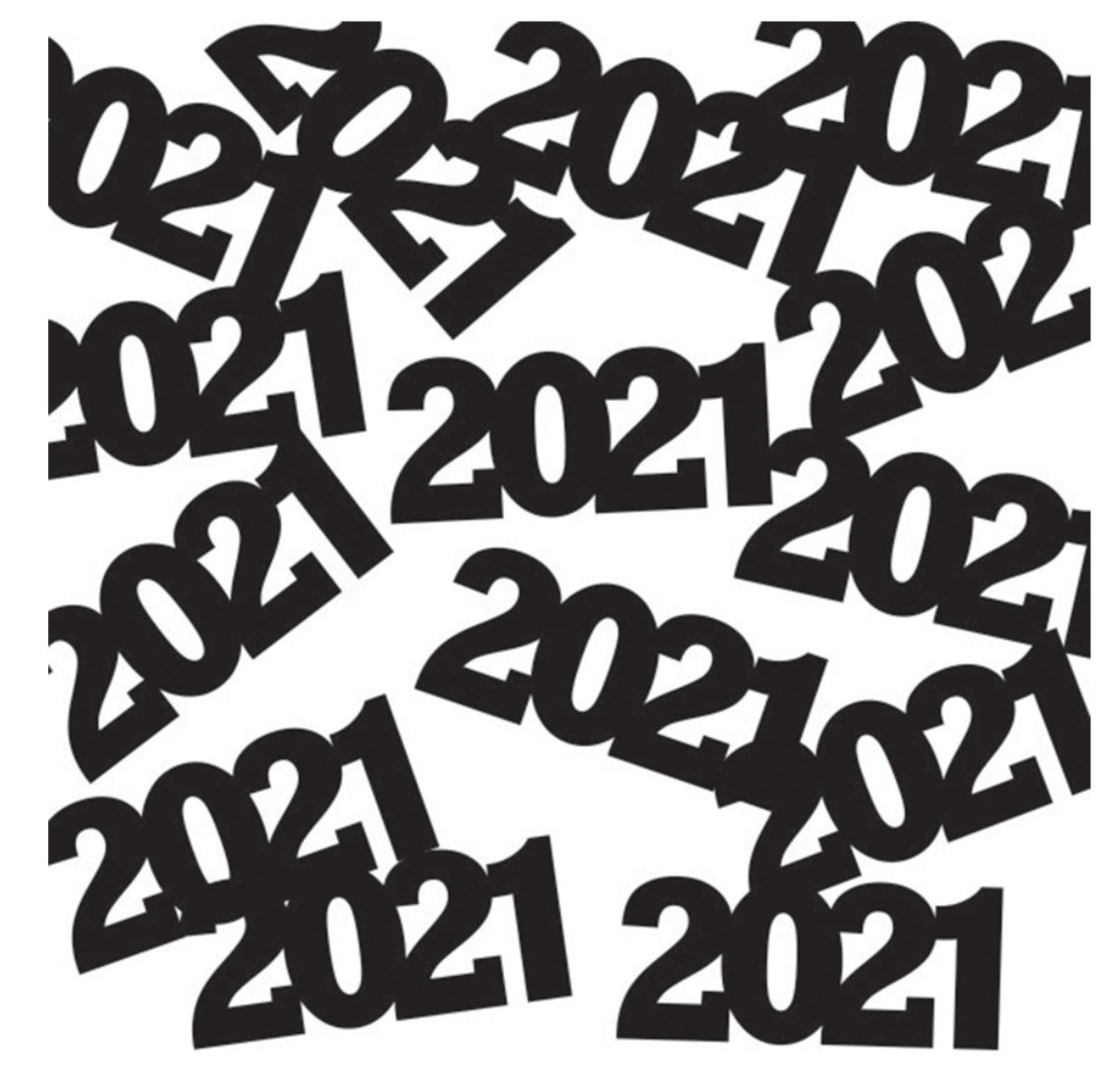 2021 Black Party Confetti