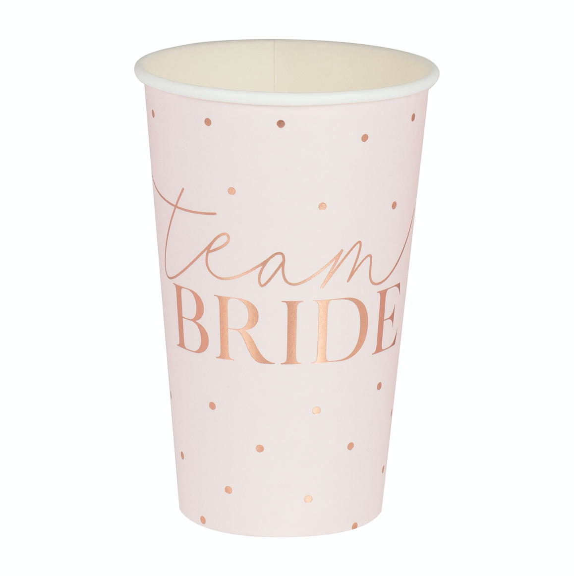 Rose Gold Team Bride Large Hen Party Cups