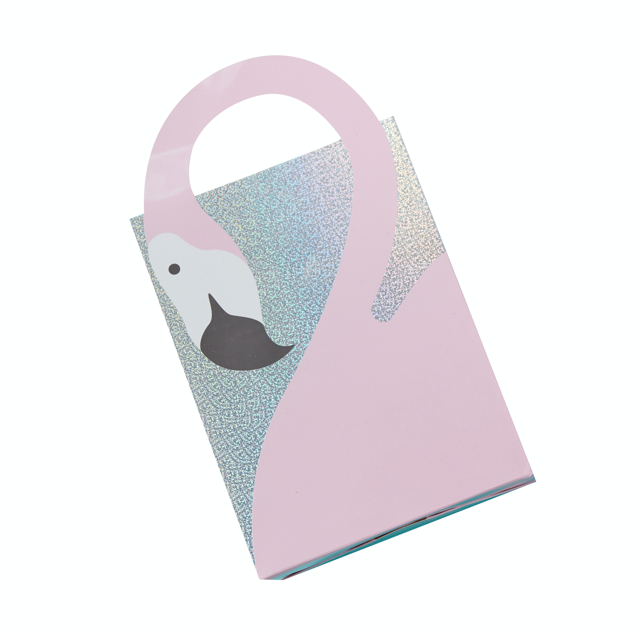 Flamingo Shaped Handle Party Bags Good Vibes