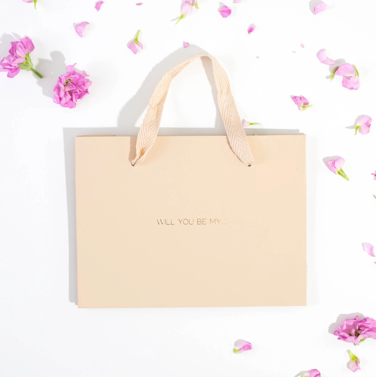 'Will You Be My' Luxury Gold Foil Gift Bag