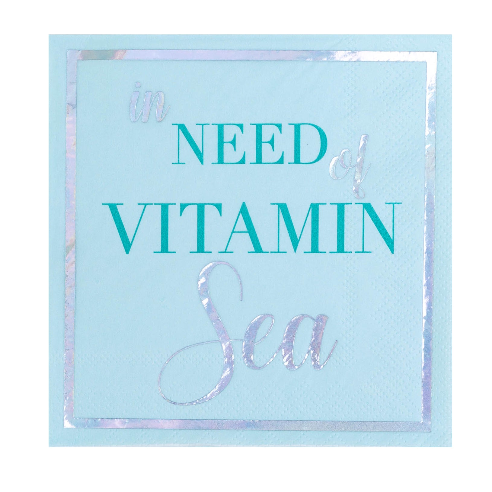 """In Need of Vitamin Sea"" Cocktail Napkins"