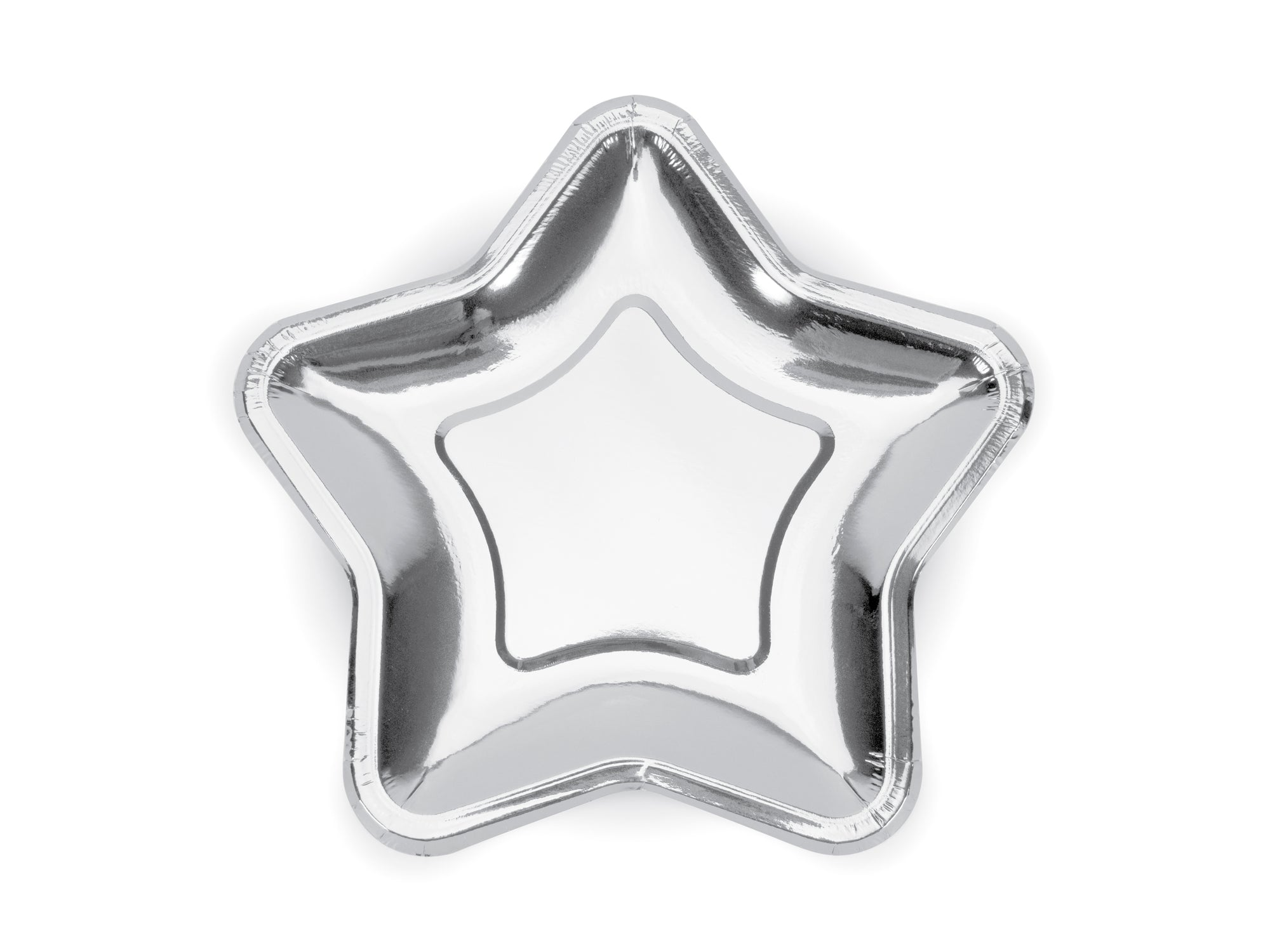 Mini Silver Star Shaped Plates