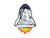 Space Rocket Shaped Party Plates