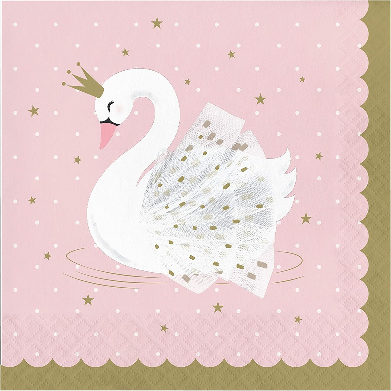 Stylish Swan Paper Party Napkins