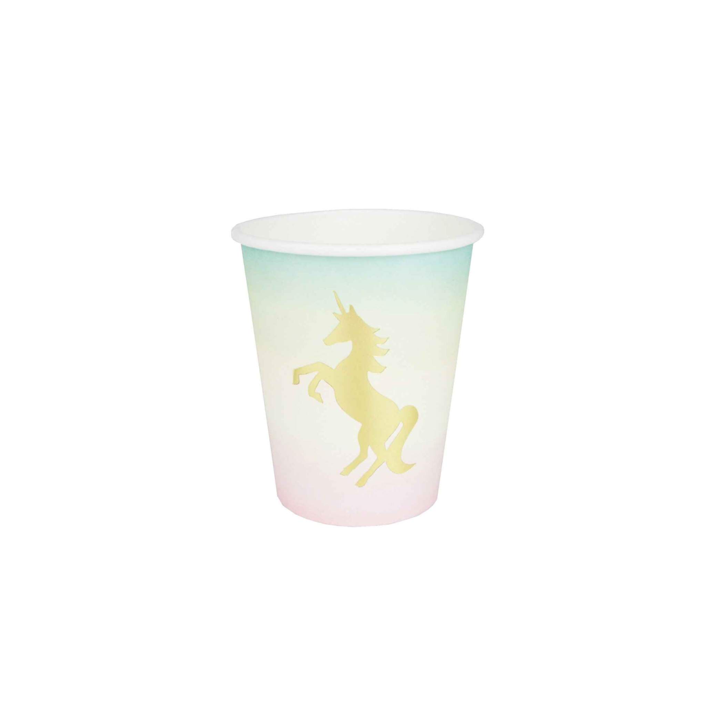 Pastel Unicorn Paper Cups Talking Tables