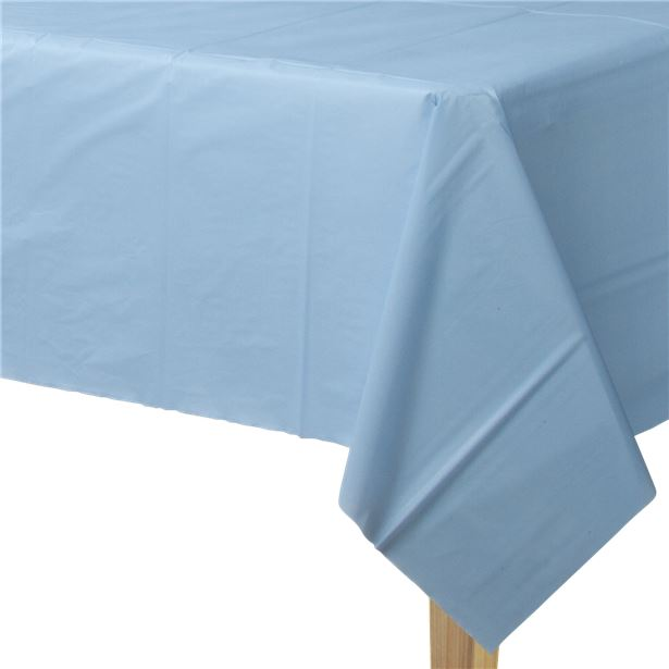 Baby Blue Plastic Table Cover