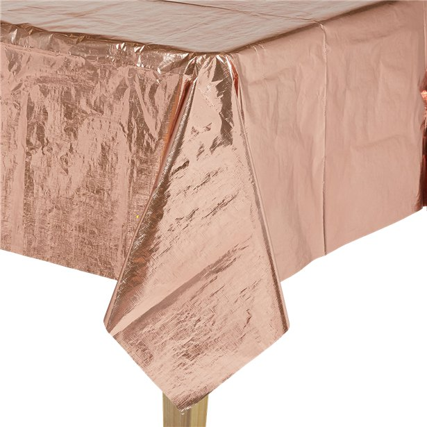 Rose Gold Metallic Table Cover