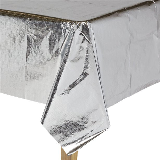 Metallic Silver Paper Table Cover