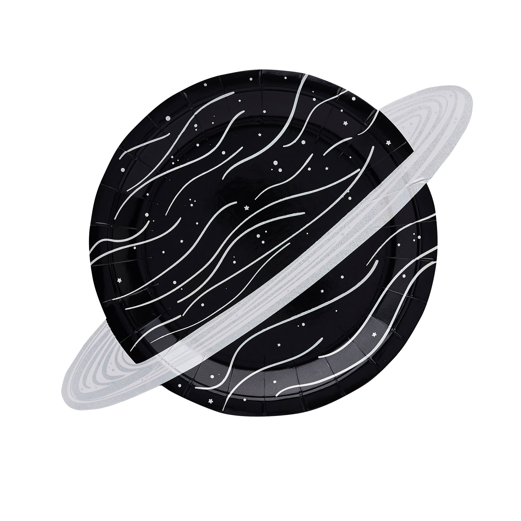 Iridescent Planet Paper Plates Saturn