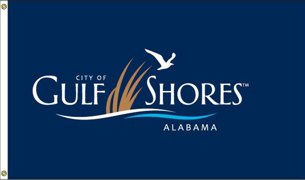 Gulf Shores Logo Flag