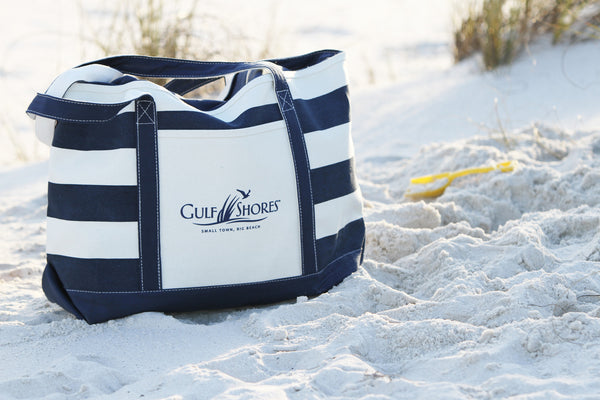 Gulf Shores Canvas Beach Tote