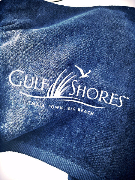 Gulf Shores Embroidered Beach Towel
