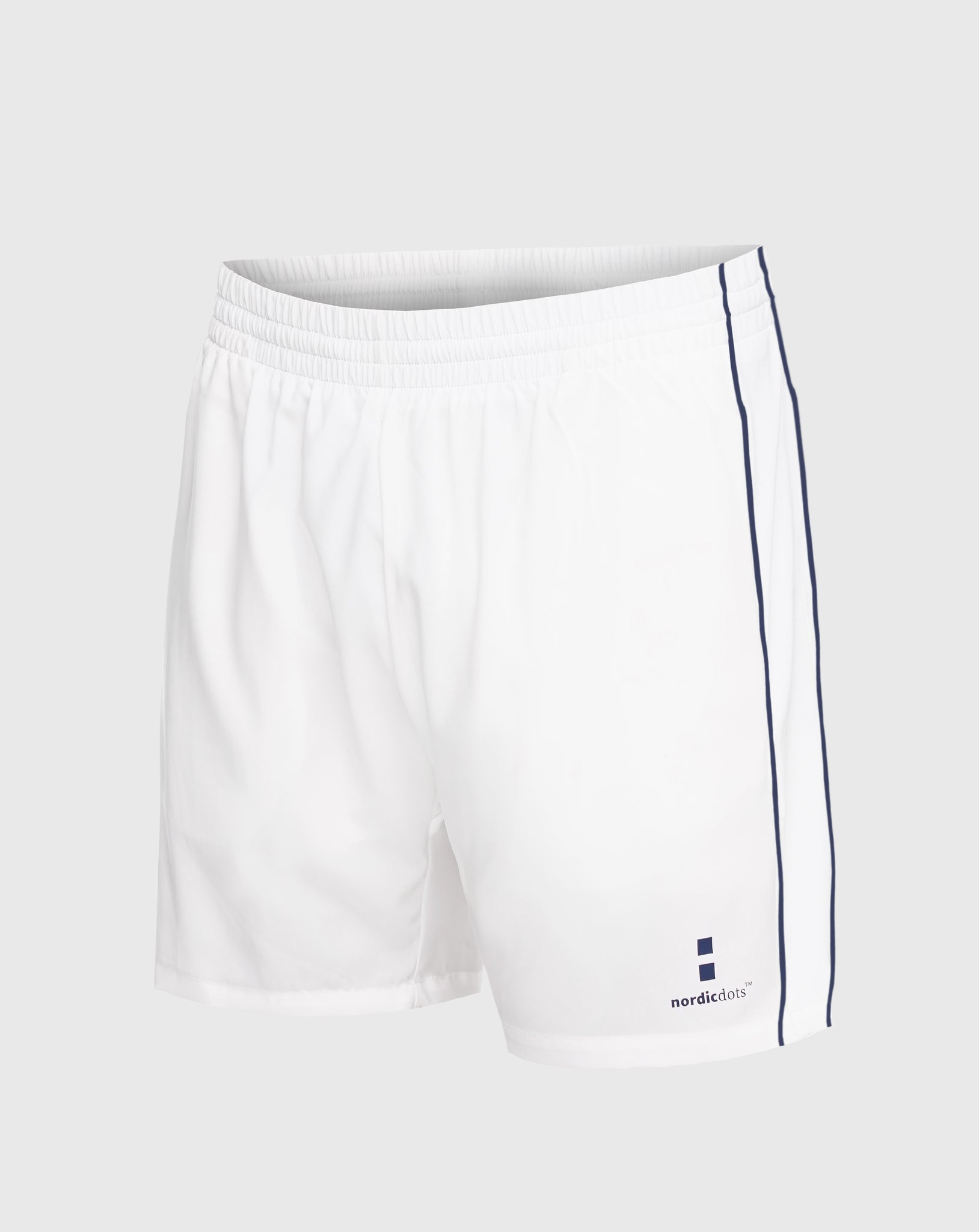 nordicdots white tennis shorts