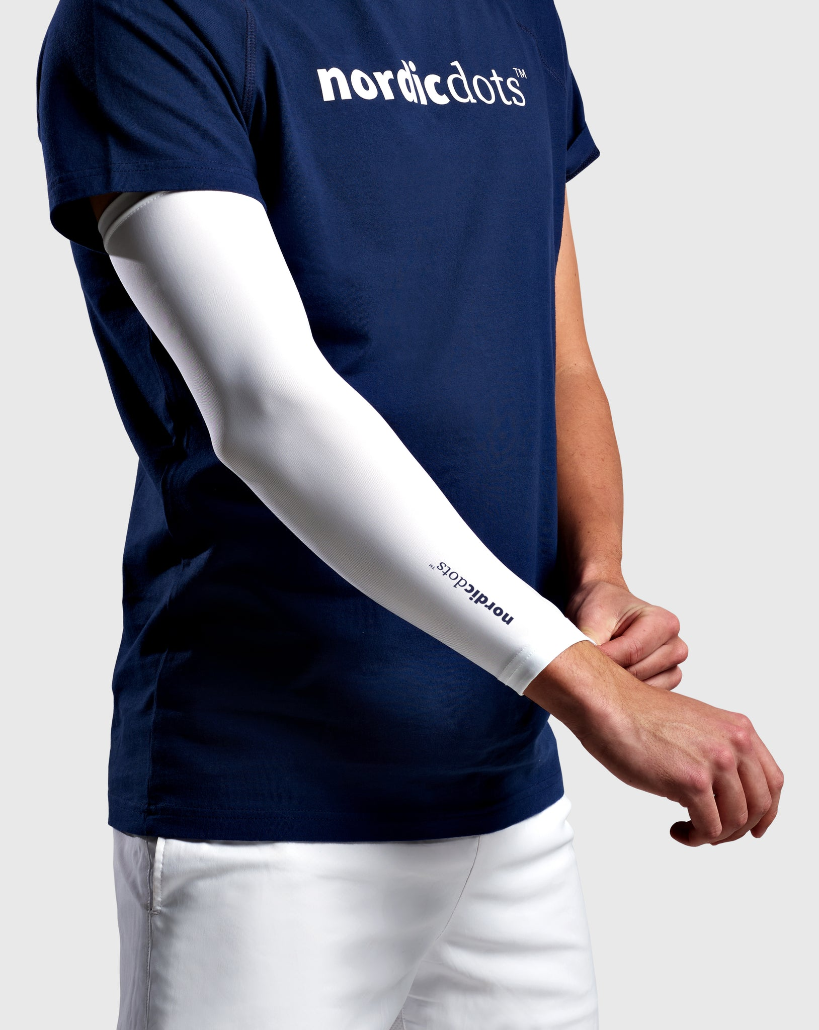 Compression Arm Sleeve White