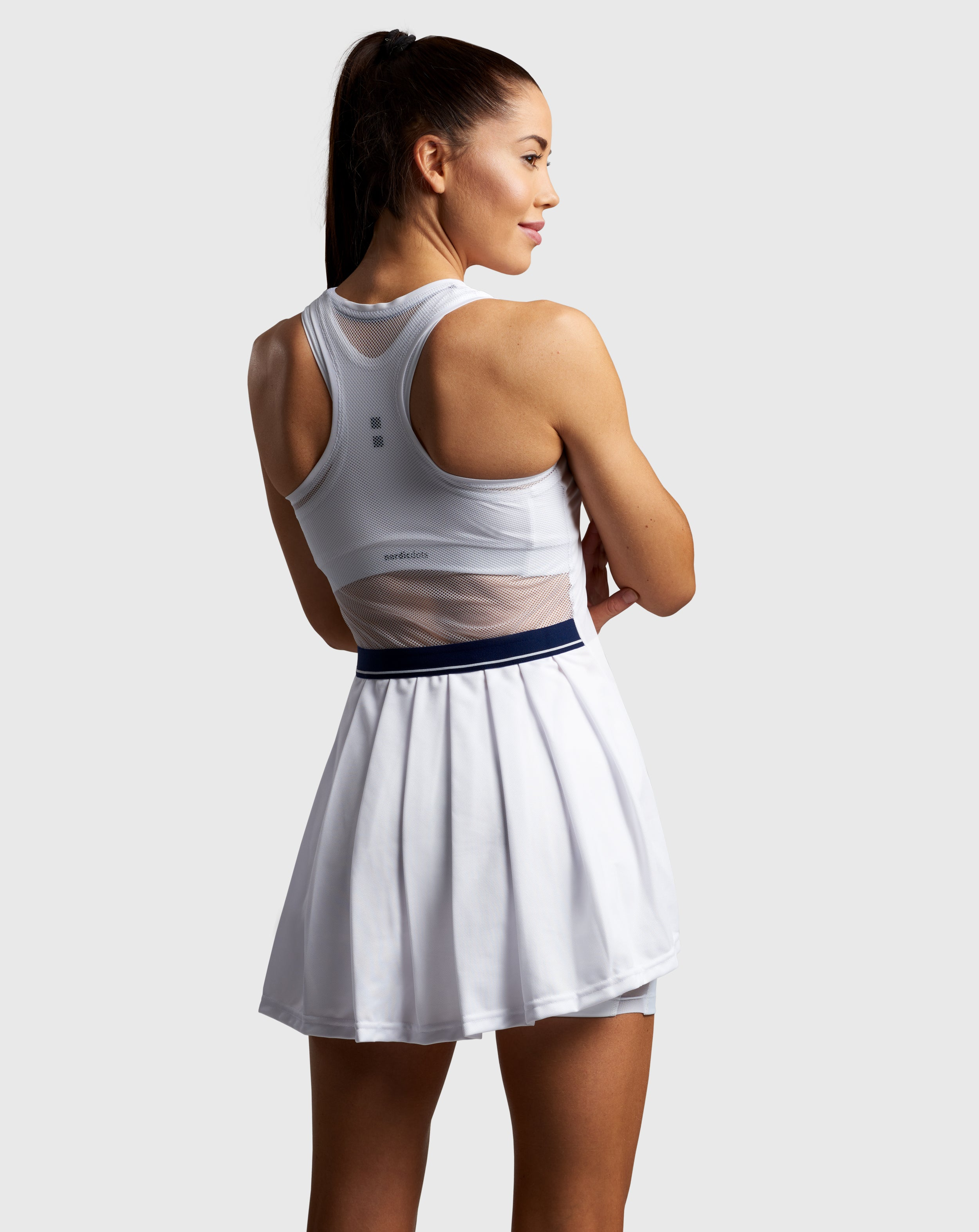 nordicdots elegant tennis dress white