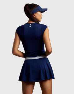 beautiful nordicdots tennis skirt in navy blue color