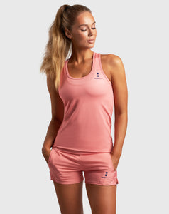 nordicdots tennis padel tank-top coral