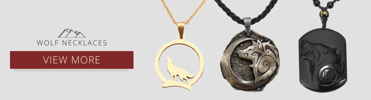 gray wolf necklaces