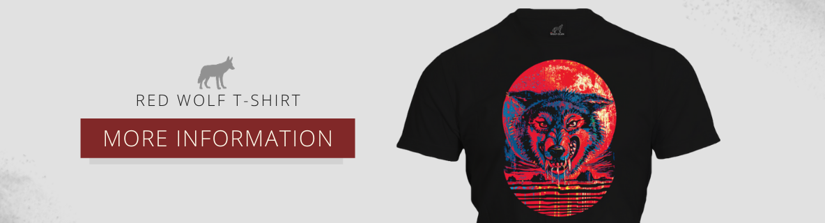 red wolf t-shirt black