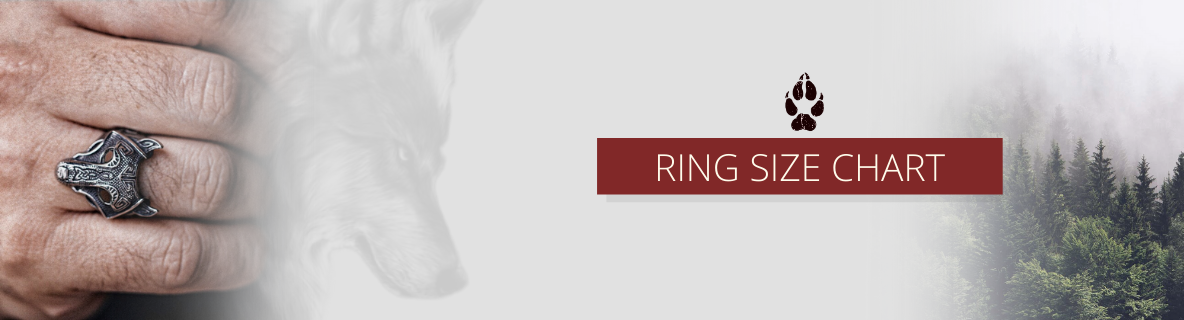 wolf ring size chart