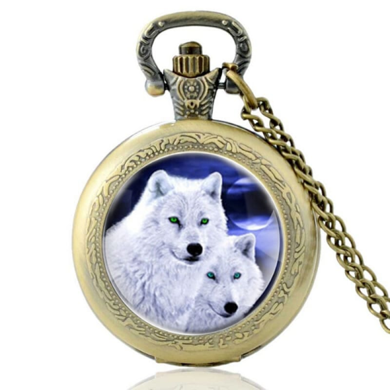 Arctic Wolf Pocket Watch