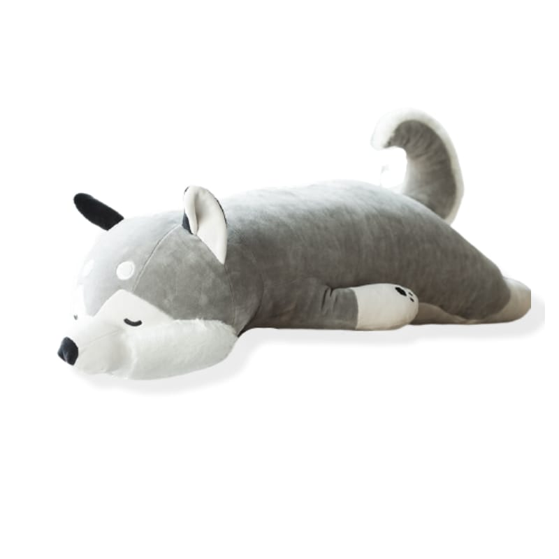 Big wolf plush toy