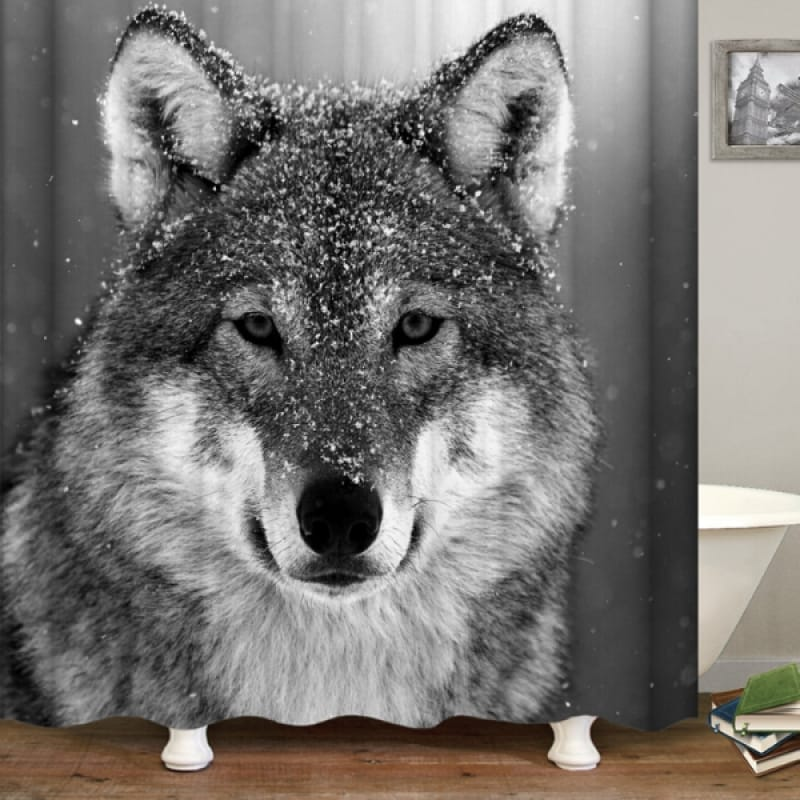 Black and White Animal Shower Curtain