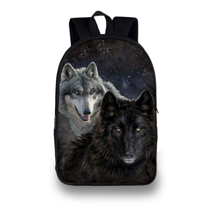Black Wolf Backpack