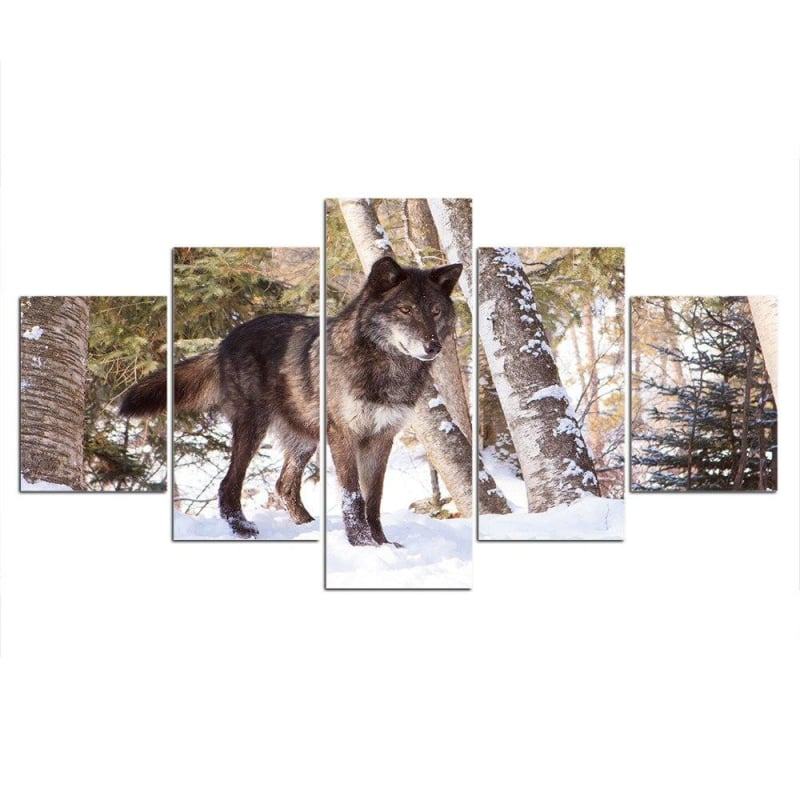 Black Wolf Canvas