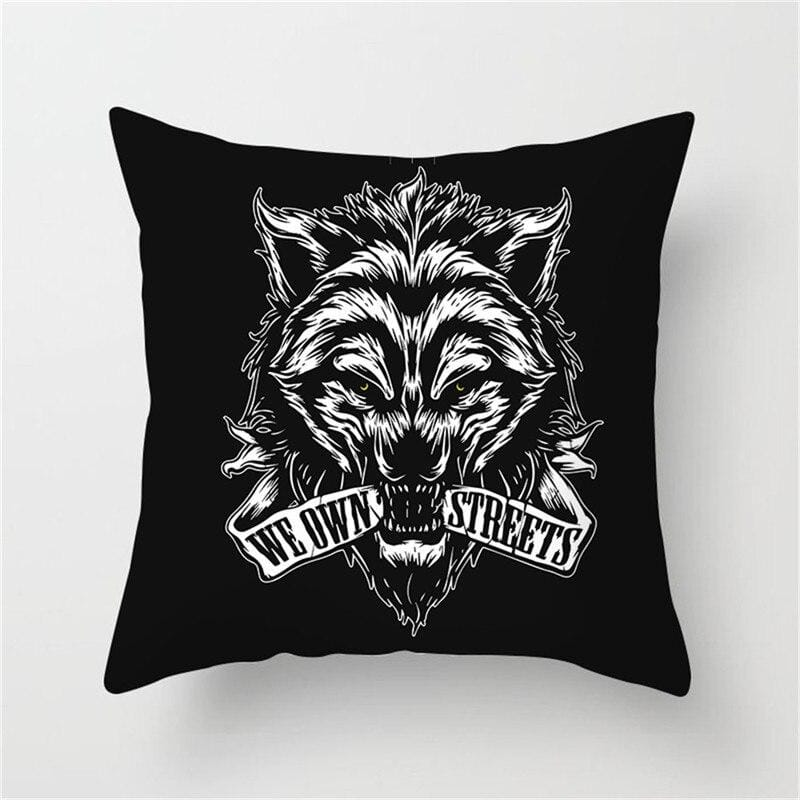 Black Wolf Deluxe Pillow