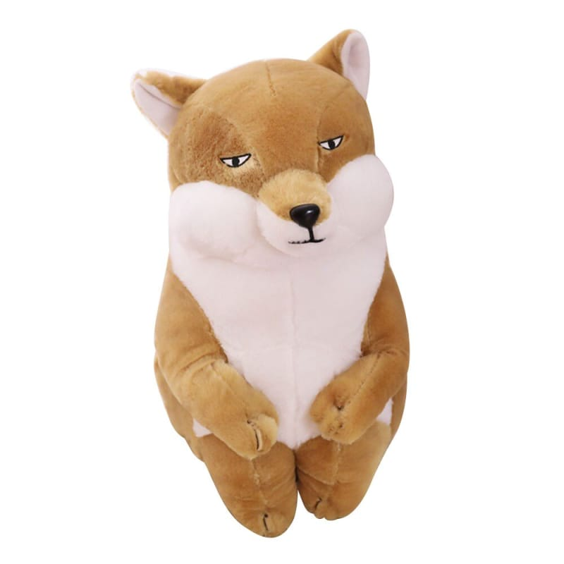 Brown wolf plush