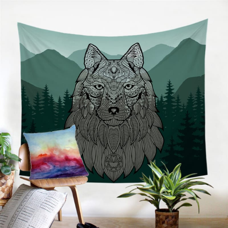 Celtic Wolf Tapestry