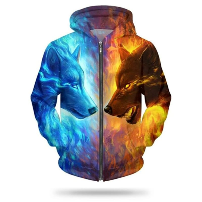 Fire and Ice Wolf Jacket
