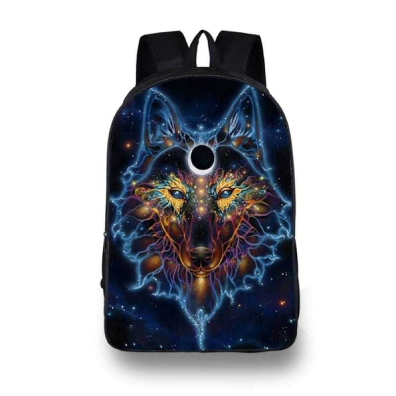 Galaxy Wolf Backpack