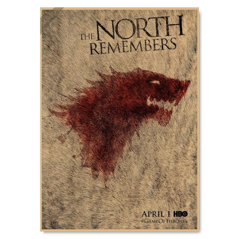 Game of Thrones wolf poster
