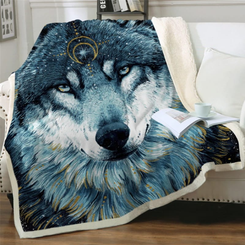 Giant Wolf Blanket