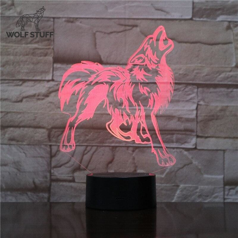 Glass Wolf Lamp Shade